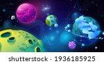 planet fantasy in space  cosmos ... | Shutterstock . vector #1936185925