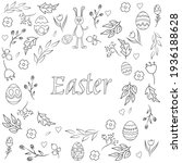 vector easter template with the ... | Shutterstock .eps vector #1936188628