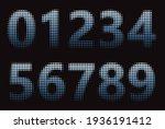 set of blue color halftone... | Shutterstock .eps vector #1936191412