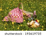 picnic  in the grass with tasty ... | Shutterstock . vector #193619735