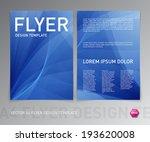 abstract vector modern flyer  ... | Shutterstock .eps vector #193620008