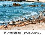 Sea Landscape  Rocky Ocean...
