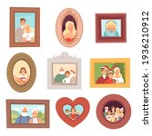 family portraits. photos of... | Shutterstock . vector #1936210912