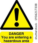 danger symbol with you are... | Shutterstock .eps vector #1936217338