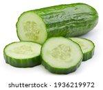 Cucumber slice isolated....