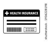 health insurance card flat... | Shutterstock .eps vector #1936228198