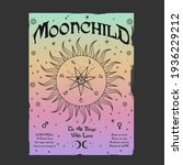 moon child slogan print with... | Shutterstock .eps vector #1936229212