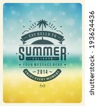 summer holidays vector... | Shutterstock .eps vector #193624436