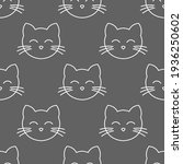 cats faces seamless pattern.... | Shutterstock .eps vector #1936250602