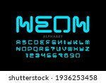 neon style font  typography...   Shutterstock .eps vector #1936253458