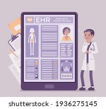 electronic health record  ehr...   Shutterstock .eps vector #1936275145