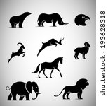animal iconic shapes | Shutterstock .eps vector #193628318