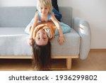 Toddler Child  Hanging Upside...