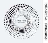 dotted circular logo. circular... | Shutterstock .eps vector #1936299982