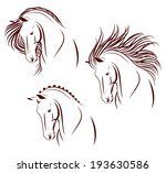 set of 3 differently stylized... | Shutterstock .eps vector #193630586