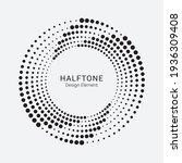 halftone circular frame logo.... | Shutterstock .eps vector #1936309408