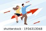 businesswoman and businessman... | Shutterstock .eps vector #1936313068