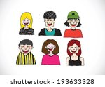 set various emotions people... | Shutterstock .eps vector #193633328
