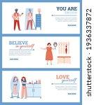happy people looking in mirrors ...   Shutterstock .eps vector #1936337872