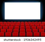 cinema screen. cinema with...   Shutterstock .eps vector #1936342495