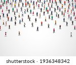 large group of people on white... | Shutterstock .eps vector #1936348342