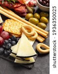charcuterie board with hard...   Shutterstock . vector #1936350025