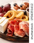 charcuterie board with spanish...   Shutterstock . vector #1936351612