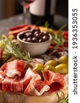 charcuterie board with spanish...   Shutterstock . vector #1936353055