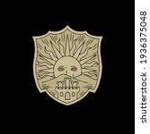 golden dawn witch logo.... | Shutterstock .eps vector #1936375048