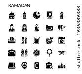 simple ramadan icon set solid...   Shutterstock .eps vector #1936389388