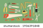 various working tools.... | Shutterstock .eps vector #1936391848