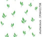 leaves seamless pattern. nature ... | Shutterstock .eps vector #1936411738