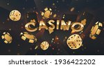 gold 3d letters casino with... | Shutterstock .eps vector #1936422202