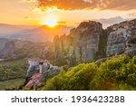 Meteora  Greece. Sandstone Rock ...