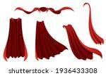 superhero red cape. scarlet... | Shutterstock .eps vector #1936433308