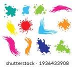 Paint Blots. Splashes Set For...