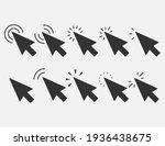 set of clicks icon. cursor sign.... | Shutterstock .eps vector #1936438675