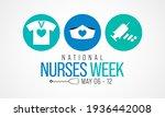 national nurses week is... | Shutterstock .eps vector #1936442008