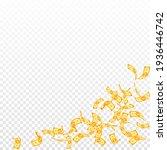 korean won notes falling.... | Shutterstock .eps vector #1936446742