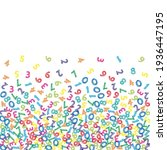 falling colorful sketch numbers.... | Shutterstock .eps vector #1936447195