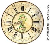 antique ornamental clock face... | Shutterstock . vector #193646702
