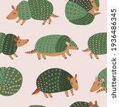 armadillo seamless pattern in...   Shutterstock . vector #1936486345