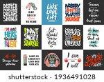 set of 15 motivational and... | Shutterstock .eps vector #1936491028
