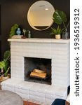 Fireplace With Mantle And...