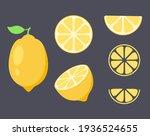 lemon vector clip art. summer... | Shutterstock .eps vector #1936524655
