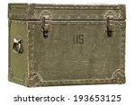 Vintage Green Military Chest...