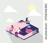people on isometric space book   Shutterstock .eps vector #1936536382