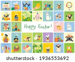 vector easter cards with cats ... | Shutterstock .eps vector #1936553692
