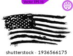 usa flag. distressed american... | Shutterstock .eps vector #1936566175