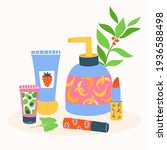 set of different cosmetics ... | Shutterstock .eps vector #1936588498
